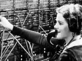Telephone Operator at Work