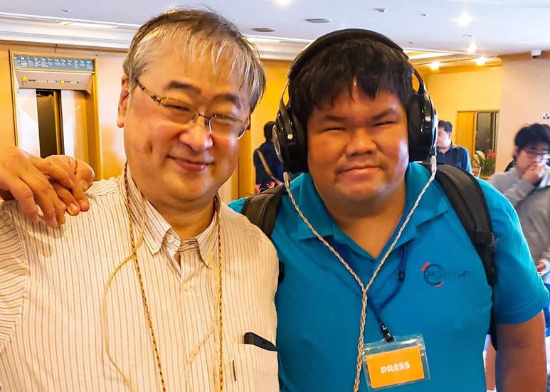 Takuya Sugiyama with Goh Beng Yeow